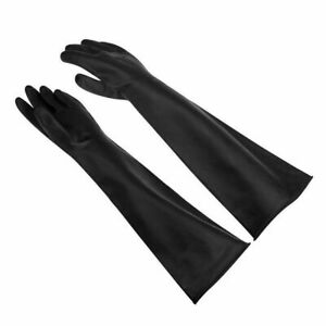 Long Rubber Glove Extra Thick PPE Latex Industrial Anti Acid Chemical 60CM Glove