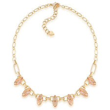 CAROLEE Mimosa Frontal Stone Necklace Gold Tone Crystal Collar Necklace NWT