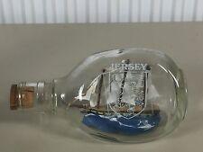 Bateau bouteille ancien maquette JERSEY marine, curiosité BOAT IN THE BOTTLE