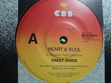 "Great Divide (Narcs) ""Heart & Soul"" PROMO Oz 7"""