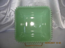 "Jadeite Candlewick Style 7 3/8"" Square Bowl~Small Beading~Reproduction~Very Nice"