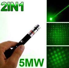 5MW Green Laser Pointer Pen 532nm Mini Stage Beam Light Star Cap 2in1 50Pcs Lot