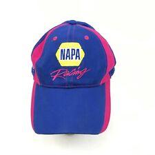 Napa Racing Martin Truex Hat Cap Strapback Blue Pink Breast Cancer Awareness