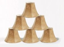 "Urbanest Faux Leather Mini Chandelier Lamp Shades Set of 6 Bell Softback 3x6""x5"""