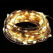 New Warm White 10M Copper Wire 100LED String Party Decoration Light 5V USA