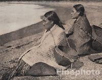1972 EDWARD CURTIS Vintage Folio NATIVE AMERICAN INDIAN Nootka Women Photo Art