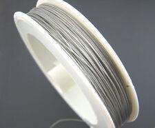 10 m Schmuckdraht 0,38 mm antiksilber Stahl nylonummantelt Basteldraht €0,12/m