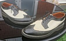 Vintage Dr Martens 3989 black white brogue shoes  UK 7 EU 41 Made in England