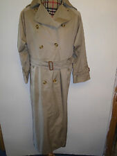 Genuine Burberry Light Brown Mac Trench Coat Raincoat Size UK 10 L Euro 38 L