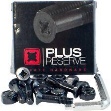 "New! ~ Plus Reserve / Universal / Black / 7/8"" Skateboard Hardware Set!"