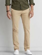 Men's American Eagle 360 Extreme Flex Slim Chino Field Khaki Pants 33 x 32