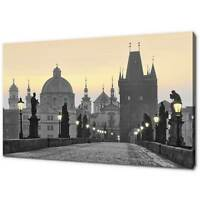 CHARLES BRIDGE PRAGUE CANVAS PRINT PICTURE WALL ART FREE FAST DELIVERY