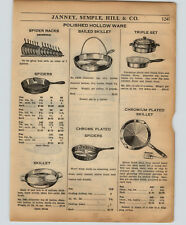 1934 PAPER AD Griswold Skillets Spider Store Display Rack Stand RARE BAILED