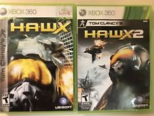 Tom Clancy's HAWX 1 HAWX 2 H.A.W.X. Xbox 360 - 2 Game Lot Bundle - COMPLETE