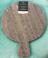 "Nanette Lepore Marble Cutting Board Cheese Made India 12"" Round Gray Variable 2"