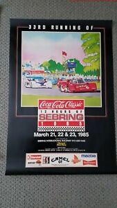 1985 Sebring Race Poster Excellent Condition Corvette Ferrari Porsche MINT