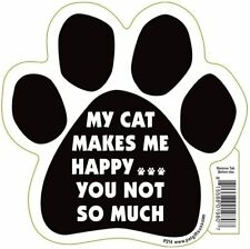 Large Paw Magnet - My Cat Makes me Happy - Free Shipping