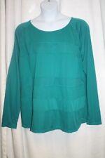 f94cd556dc210 New Women s Danskin Green Long Sleeve Activewear Top Mesh Sections    Thumbholes