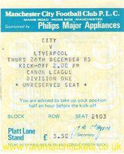 original 1985-86 division 1 MANCHESTER CITY LIVERPOOL (champions) ticket
