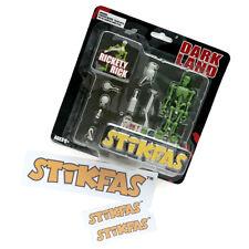Original Vintage Stikfas Action Figure Dark Land Rickety Rick AFB007A + Stickers