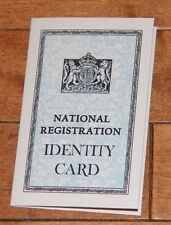 WW2 British National Registration Identity Card ID Reproduction