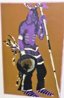 ORIG FRITZ SCHOLDER PENCIL SIGNED LITHOGRAPH, KACHINA WITH HUNTING STICK #45/100