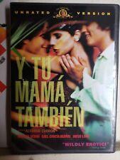 Y Tu Mama Tambien (Dvd, 2002, Unrated Version) English Subtitles