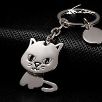 Cat Keychain Cute Pussycat Keyring Key Ring Chain Fob for Cat Lovers Owners Fans