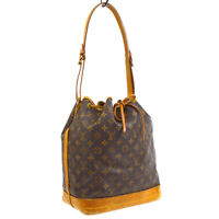 LOUIS VUITTON NOE DRAWSTRING SHOULDER BAG PURSE MONOGRAM CANVAS M42224 33940