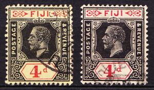 Fiji 1912 GV 4d used, dies I & II, cv £55