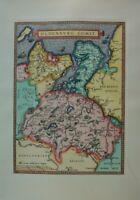 Oldenburg Comit Landkarte Kupferstich Reproduktion auf Bütten G-6394