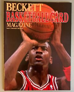 Beckett Basketball Card Price Guide Magazine #1 1990  MICHAEL JORDAN  MINT!!!