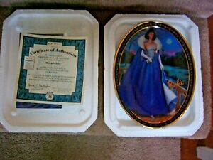 BARBIE DOLL OVAL PLATE--MIDNIGHT BLUE   BY BRADFORD EXCHANGE 2001