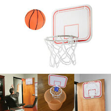 Mini Basketball Hoop System Kids Goal Over The Door Indoor Sports with Ball