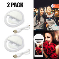 2 Pack Universal Selfie Led Camera Ring Clip Fill Light For Mobile Cell Phone