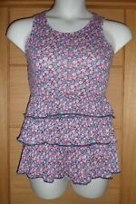 GIRLS PINK RED AND BLUE FLORAL RA RA CASUAL TOP FROM F&F AGE 12-13 YEARS