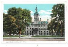 1938 postcard Marshalltown Iowa Court House