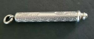 ANTIQUE SILVER ONE DRAW PROPELLING PENCIL IN GOOD WORKING ORDER 1902