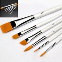 6Pcs Art Painting Brushes Set Acrylic Oil Watercolor Artist Paint Brush Dulcet P