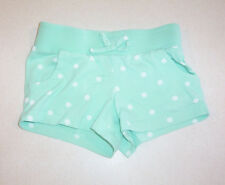 Girl's Circo Mint Green & White Polka Dot Knit Cotton Shorts X-Small 4/5