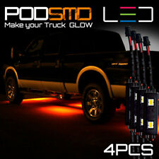 AMBER LED Underbody Glow Under Car Accent Rock Neon Light Kit Chevy SIlverado