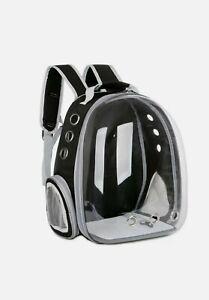Pet Carrier Backpack Small Bird Dogs Rabbit Cat Travel Transparent Black Bag