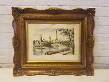 """Vintage """"Pont Alexandre III"""" Framed Print"""