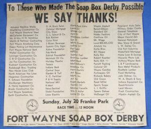 Vintage 1969 SOAP BOX DERBY Indiana Newspaper Print Ad