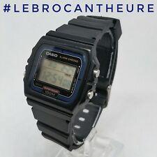Casio W-720-T Module 1846 Montre Vintage LCD Circa 1985 Bracelet Neuf