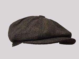 Tommy Shelby 8 PANEL,BAKER BOY,NEWSBOY,PEAKY BLINDER,1920S  FLAT,CAP,