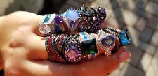 (Lot Of 10) Random Bulk Wholesale Fashion Jewelry Rings Cz