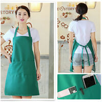 KITCHEN PLAIN APRON WITH 2 FRONT POCKET a good helper for men and women