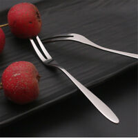 6pcs creative stainless steel fruit sign two tooth fork cake dessert fork T HHfw
