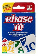 Phase 10 Family Card Game From the Makers of Uno A Rummy Type Game